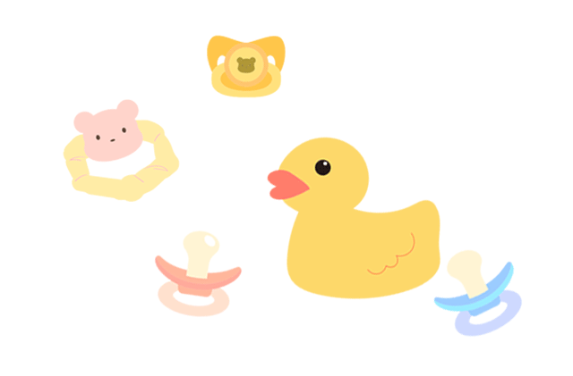 赤ちゃん用グッズのイラスト